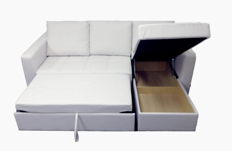 Modern White Sectional Sofa With Storage Chaise Couch