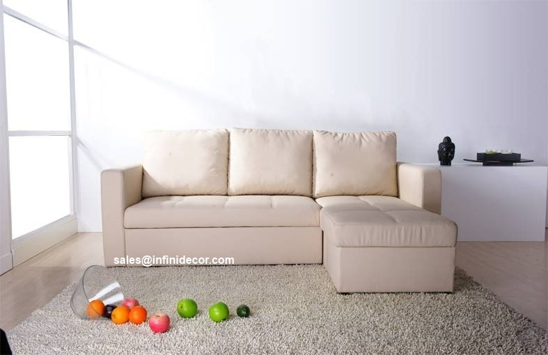 Cream beige off white sectional sofa bed with storage for White divan bed with storage