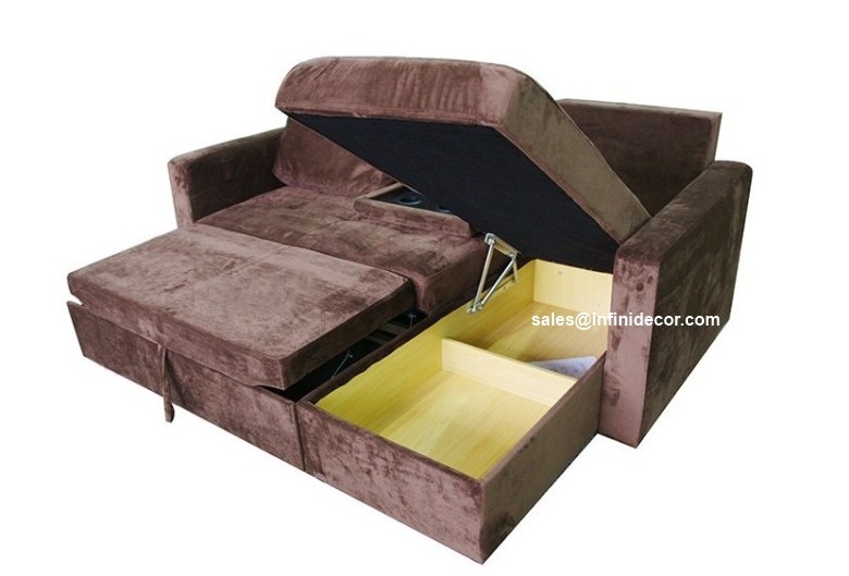 chocolate sectional sofa bed with storage chaise couch. Black Bedroom Furniture Sets. Home Design Ideas