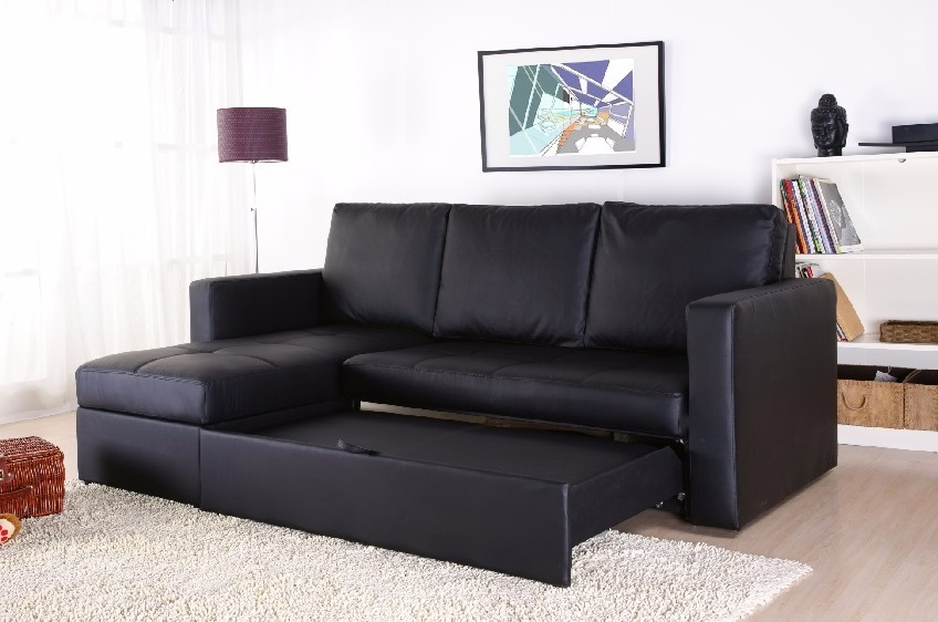 Modern sectional sofa bed with storage chaise couch for Sectional sofa bed with storage chaise