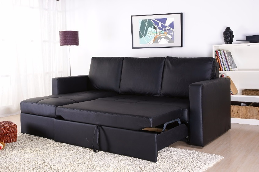 Modern sectional sofa bed with storage chaise couch for Sectional sofa bed ebay