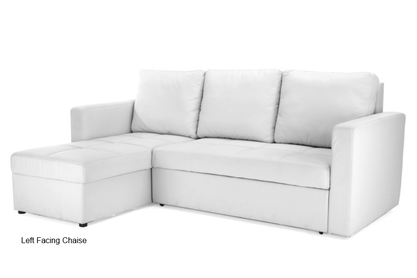 Modern Sectional Sofa Bed With Storage Chaise Couch