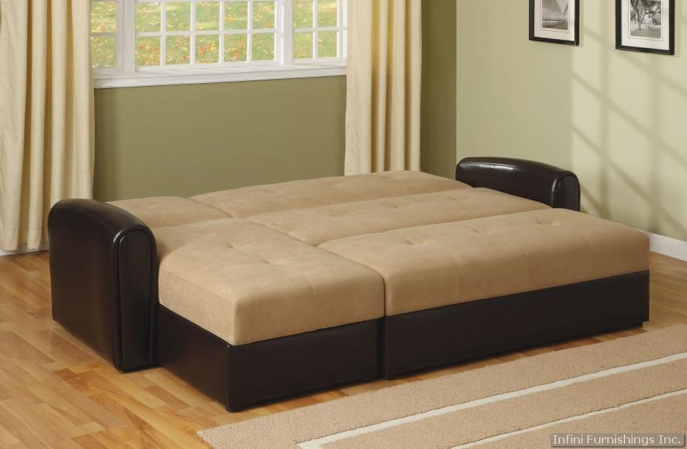 Lakeland Microfiber Sectional Sofa Couch With Storage