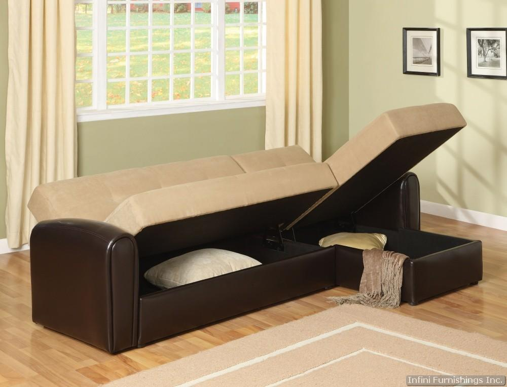 Lakeland Sectional Sleeper Sofa Bed with Storage