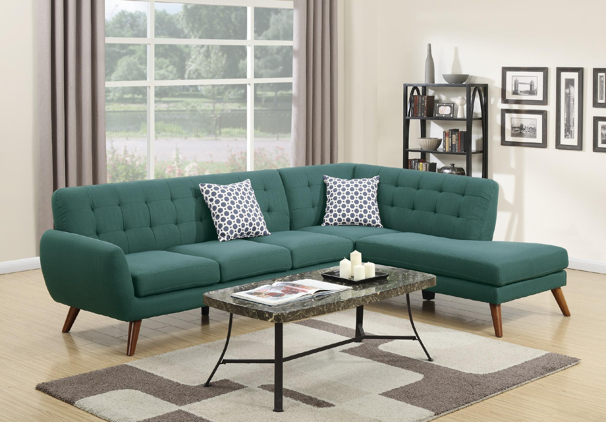 Modern Retro Sectional Sofa, Laguna