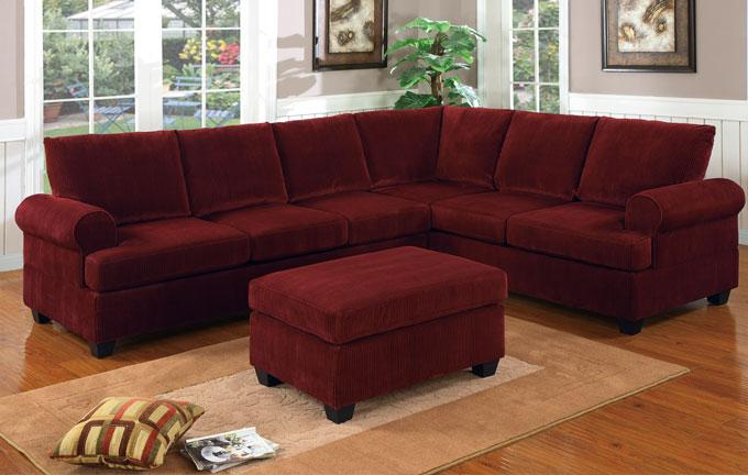 2 Piece Corduroy Sectional Sofa In Waffle Suede Truffle Couch Green ...