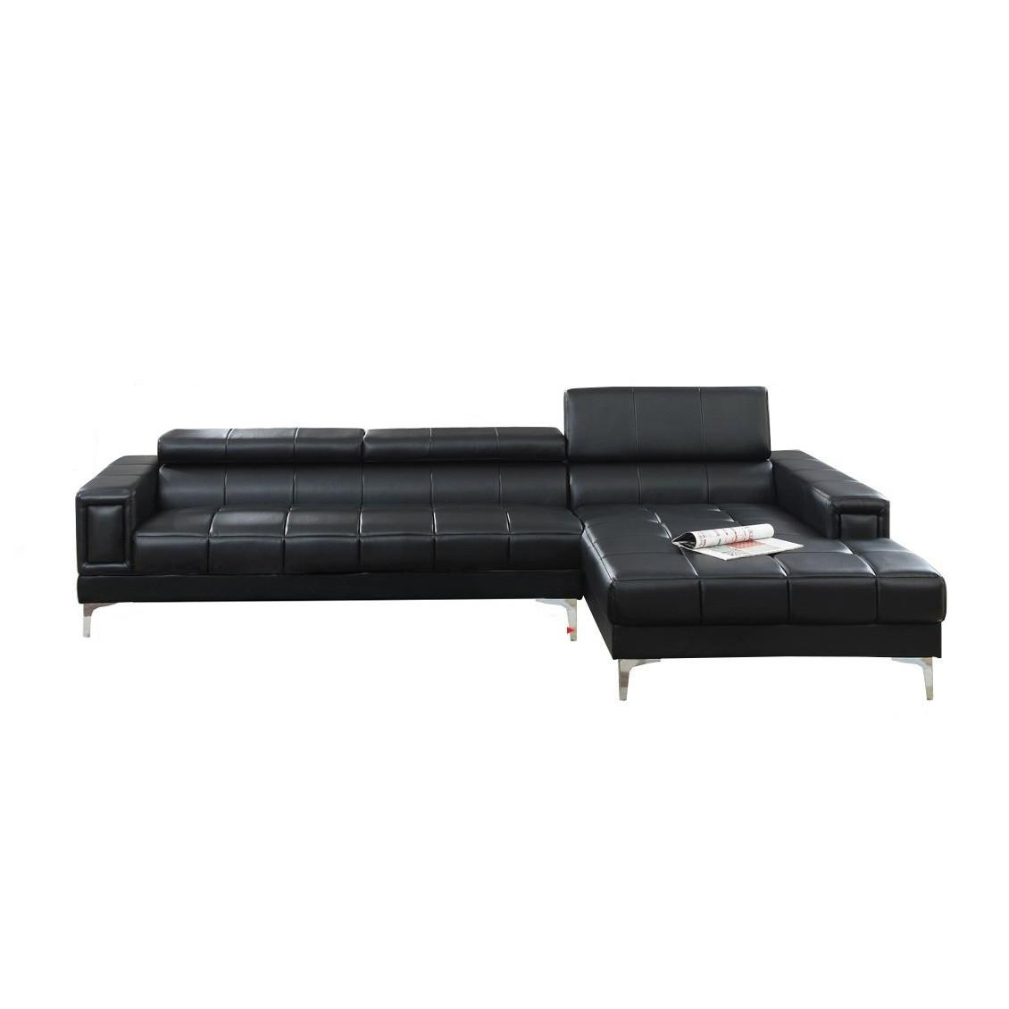 Manhattan Modern Sectional, Black
