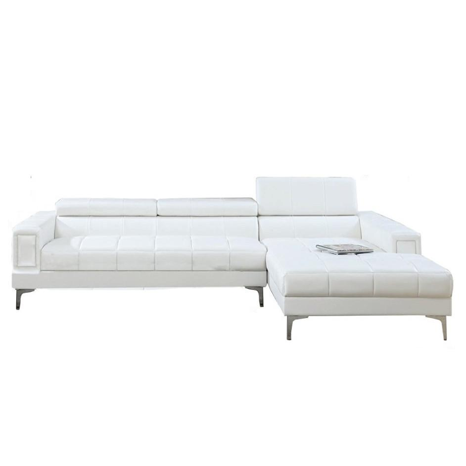 Manhattan Modern Sectional, White