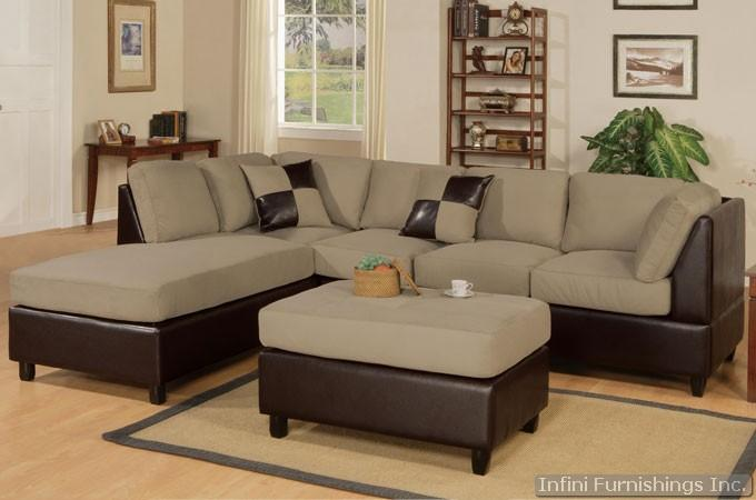 Pebble Sectional Sofa and Ottoman Set