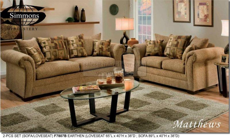 Simmons Upholstery Sofa And Loveseat