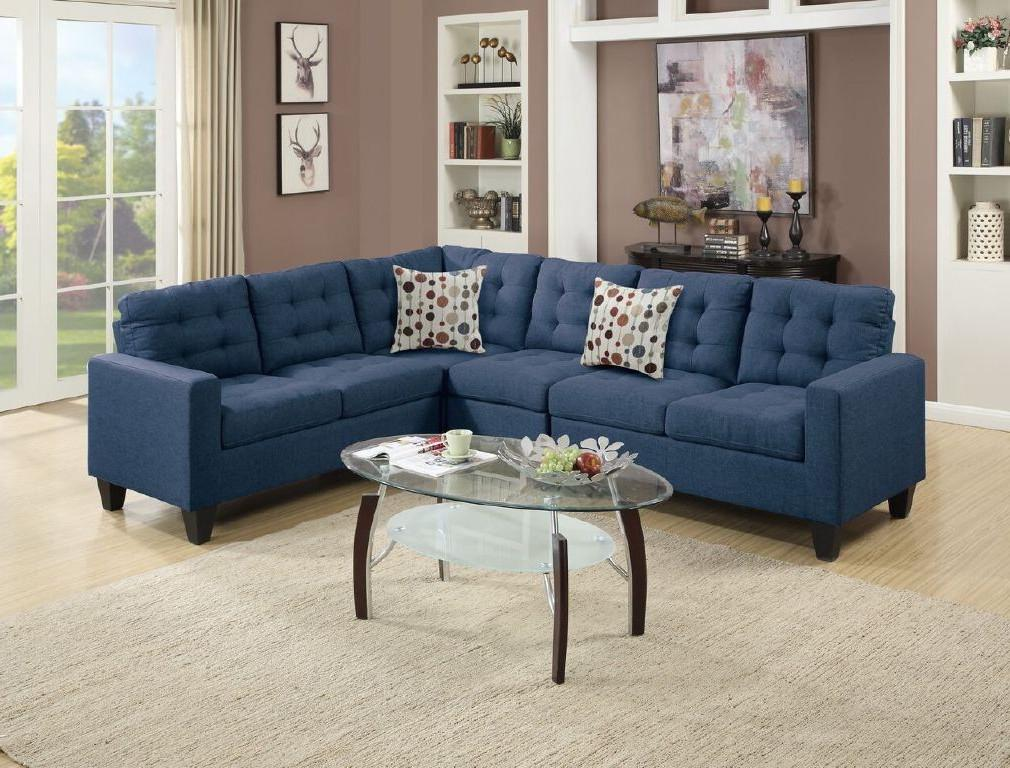 4pcs Modular Sectional Sofa, Navy
