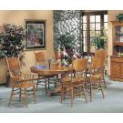 7pcs Nostalgia Oak Finish Dining Set