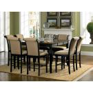 Cabrillo Counter Height Black Finish Dining Set