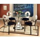 5Pcs Modern Contemporary Glass Top Dining Set